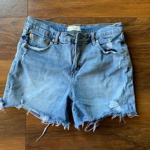 GAP High Rise Denim Shorts Size 31